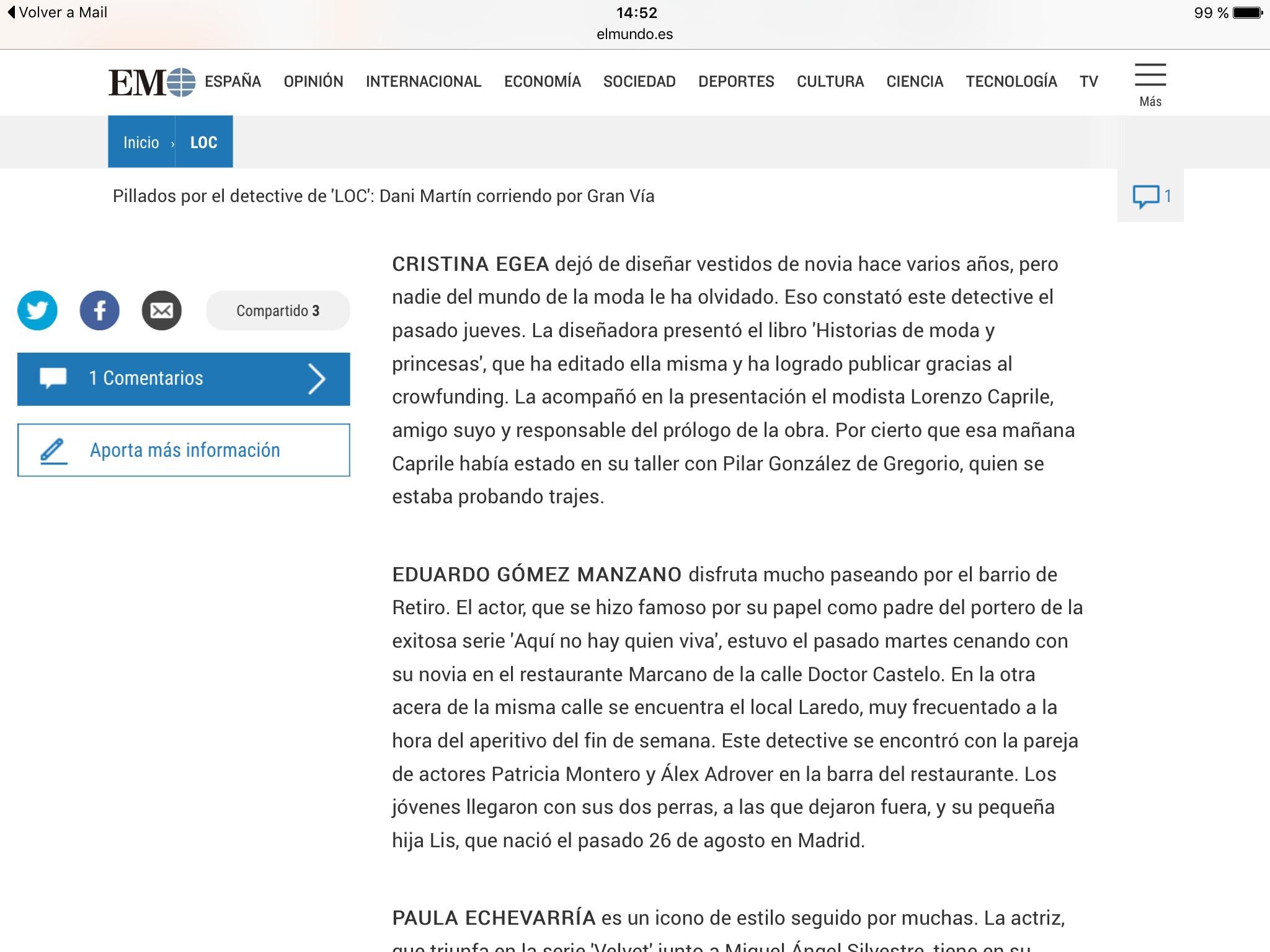 Presentación del libro Historias de Moda y Princesas de Cristina Egea
